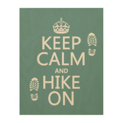 11'x14' Wood Canvas with Keep Calm and Hike On design