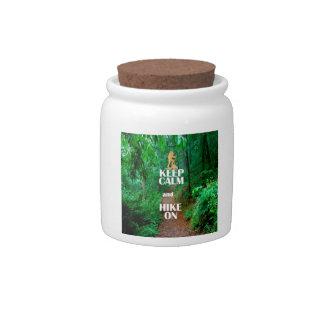 Keep Calm and Hike On Candy Jar