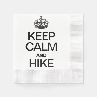 KEEP CALM AND HIKE DISPOSABLE NAPKIN