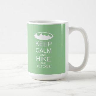 KEEP CALM and hike the tetons Classic White Coffee Mug