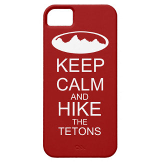 Keep calm and hike the tetons iPhone SE/5/5s case