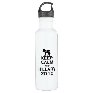 KEEP CALM AND HILLARY 2016 24OZ WATER BOTTLE