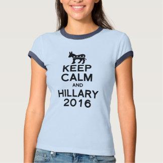 KEEP CALM AND HILLARY 2016 TEE SHIRT