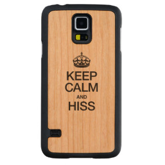 KEEP CALM AND HISS CARVED® CHERRY GALAXY S5 SLIM CASE