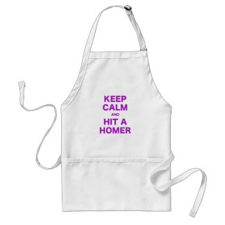 Keep Calm and Hit a Homer Adult Apron