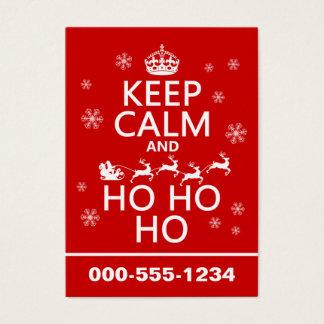Keep Calm and Ho Ho Ho Business Card