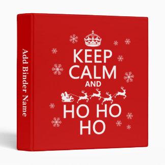 Keep Calm and Ho Ho Ho - Christmas/Santa Vinyl Binders