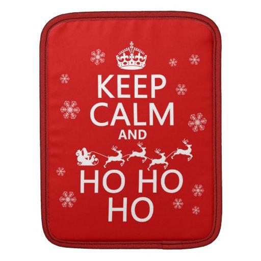 Keep Calm and Ho Ho Ho - Christmas/Santa Sleeves For iPads