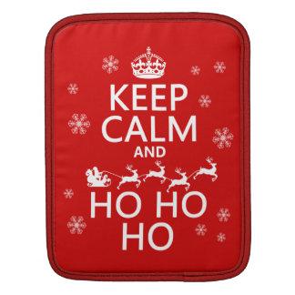 Keep Calm and Ho Ho Ho - Christmas/Santa iPad Sleeves