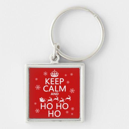 Keep Calm and Ho Ho Ho - Christmas/Santa Keychains
