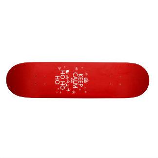 Keep Calm and Ho Ho Ho - Christmas Santa Skate Deck