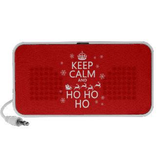 Keep Calm and Ho Ho Ho - Christmas Santa Laptop Speaker