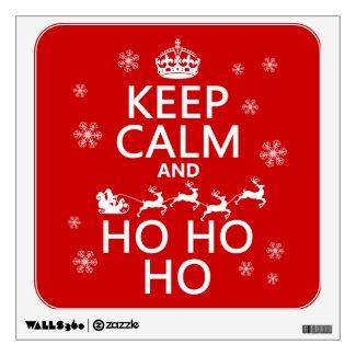Keep Calm and Ho Ho Ho - Christmas/Santa Room Decals