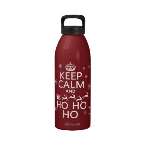 Keep Calm and Ho Ho Ho - Christmas/Santa Drinking Bottles