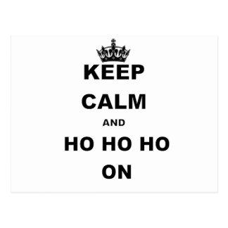 KEEP CALM AND HO HO HO ON.png Postcard
