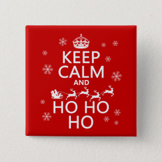 Keep Calm and Ho Ho Ho Pinback Button