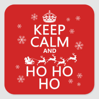 Keep Calm and Ho Ho Ho Square Sticker