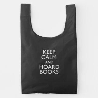 Keep Calm and Hoard Books Reusable Bag