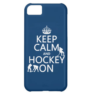 Keep Calm and Hockey On (in any color) Cover For iPhone 5C