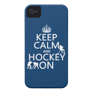 Keep Calm and Hockey On (in any color) iPhone 4 Case-Mate Case