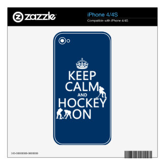 Keep Calm and Hockey On (in any color) iPhone 4 Skin