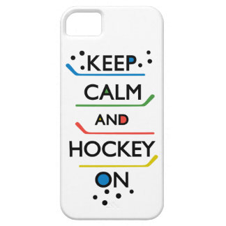 Keep Calm and Hockey On - white iPhone 5 Cover