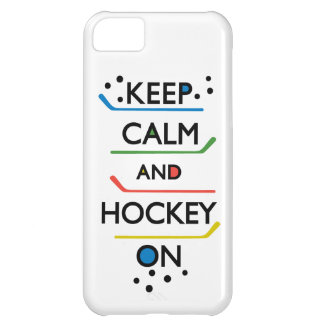 Keep Calm and Hockey On - white iPhone 5C Cover