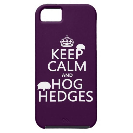 Keep Calm and Hog Hedges (Hedgehogs) (all colors) iPhone 5 Covers
