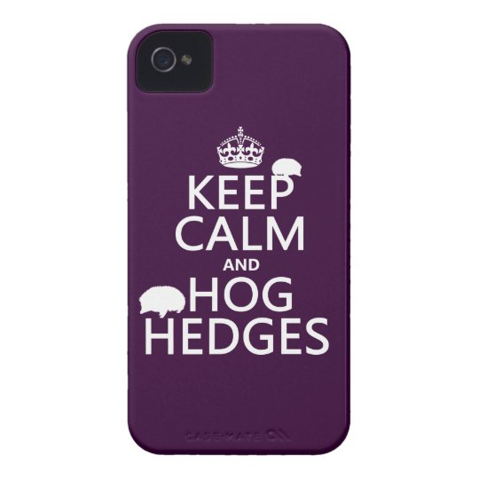 Keep Calm and Hog Hedges (Hedgehogs) (all colors) Case-Mate iPhone 4 Case
