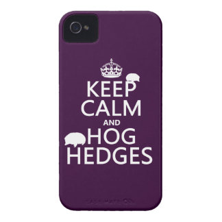 Keep Calm and Hog Hedges (Hedgehogs) (all colors) iPhone 4 Cover