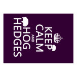 Keep Calm and Hog Hedges (Hedgehogs) (all colors) Large Business Cards (Pack Of 100)