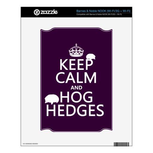 Keep Calm and Hog Hedges (Hedgehogs) (all colors) NOOK Skin