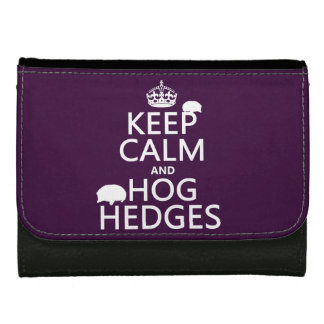 Keep Calm and Hog Hedges (Hedgehogs) (all colors) Wallets