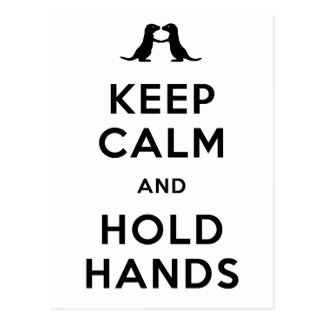 Keep Calm and Hold Hands (Otters Holding Hands) Postcard