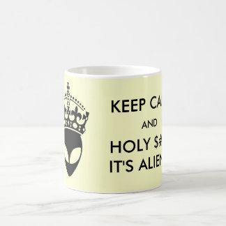 Keep Calm and Holy $#!& It's Aliens! Mug