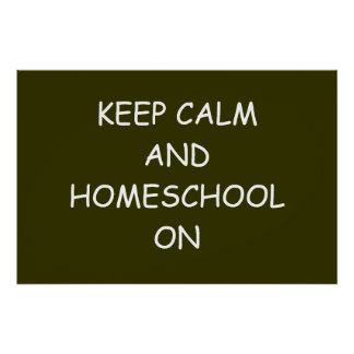 Keep Calm And Homeschool On Poster