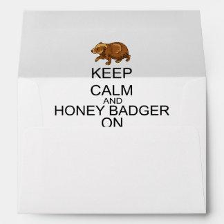 Keep Calm And Honey Badger On Envelope