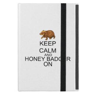 Keep Calm And Honey Badger On iPad Mini Cover