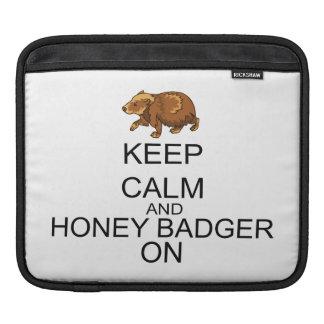 Keep Calm And Honey Badger On iPad Sleeves