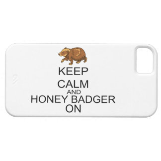 Keep Calm And Honey Badger On iPhone SE/5/5s Case