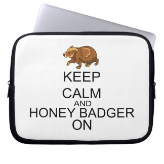 Keep Calm And Honey Badger On Laptop Sleeves