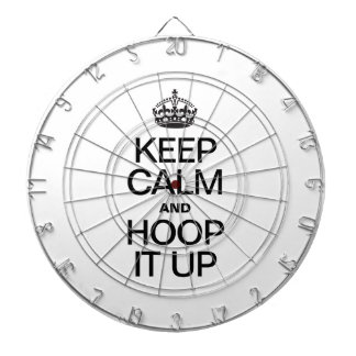 KEEP CALM AND HOOP IT UP DART BOARDS