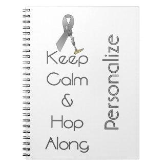 Keep Calm and Hop Along Spiral Notebooks