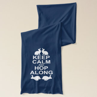 Keep Calm and Hop Along Scarf (for Dark Colours)