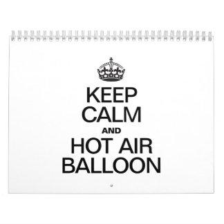 KEEP CALM AND HOT AIR BALLOON CALENDAR