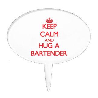 Keep Calm and Hug a Bartender Cake Topper