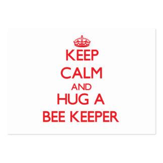 Keep Calm and Hug a Bee Keeper Business Card Template