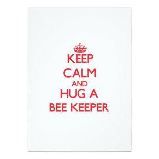 "Keep Calm and Hug a Bee Keeper 5"" X 7"" Invitation Card"