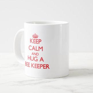 Keep Calm and Hug a Bee Keeper Jumbo Mug