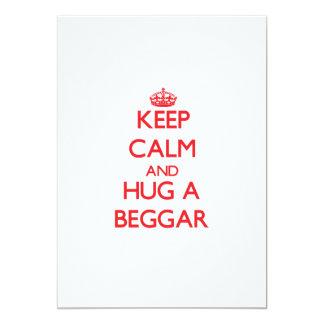 Keep Calm and Hug a Beggar 5x7 Paper Invitation Card